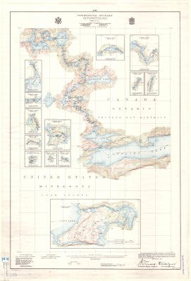 International Boundary from the Northwesternmost point of Lake of the Woods to Lake Superior -- Sheet No. 25