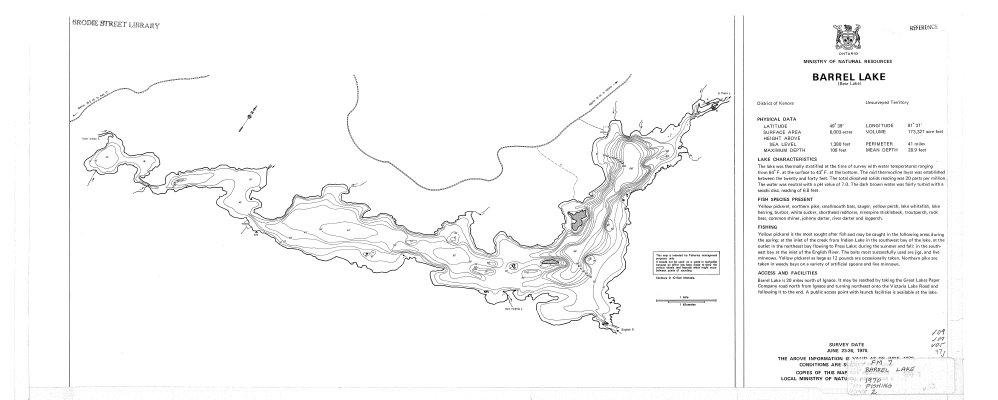 Barrel Lake Bear Lake The Gateway To Northwestern Ontario History - Ontario fishing lakes maps