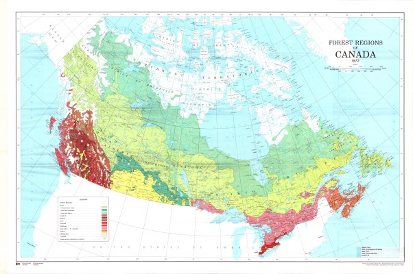 Map Of Regions Of Canada.Forest Regions Of Canada The Gateway To Northwestern Ontario History