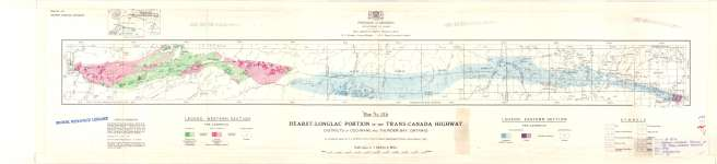 Hearst-Longlac Portion of the Trans-Canada Highway : Districts of Cochrane and Thunder Bay, Ontario