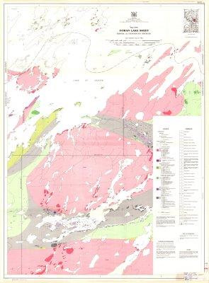 Doran Lake Sheet : Kenora and Thunder Bay Districts