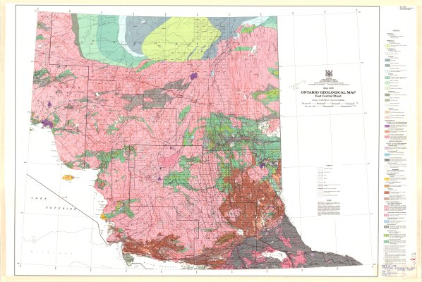 Ontario Geological Map : East Central Sheet