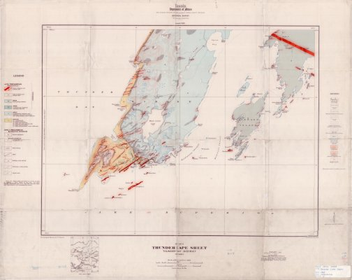 Thunder Cape Sheet : Thunder Bay District