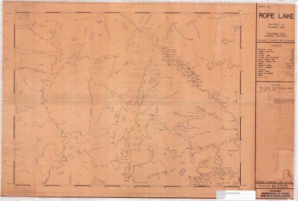Rope Lake : District of Thunder Bay