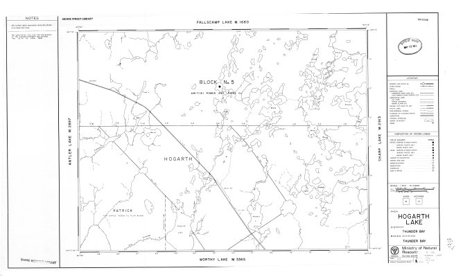 Hogarth Lake Area : Thunder Bay District