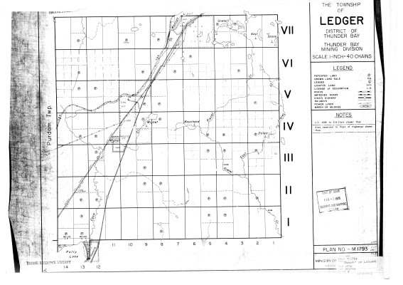 The Township of Ledger : District of Thunder Bay