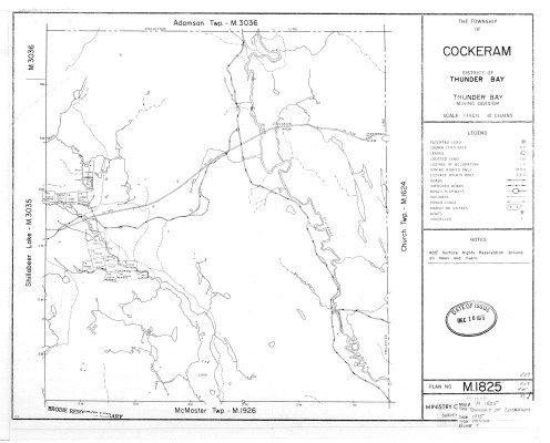 The Township of Cockeram : District of Thunder Bay