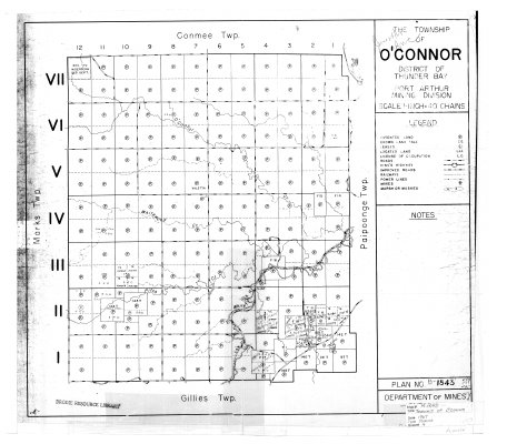 The Township of O'Connor : District of Thunder Bay