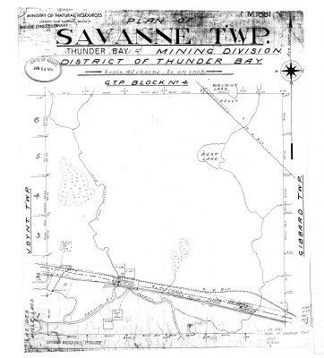 Plan of Savanne Twp. : District of Thunder Bay
