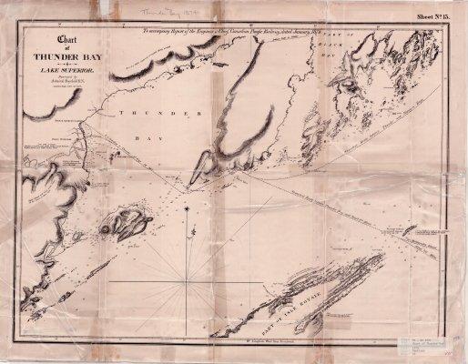 Chart of Thunder Bay : Lake Superior