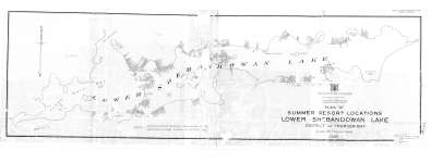 Plan of Summer Resort Locations Lower Shebandowan Lake : District of Thunder Bay
