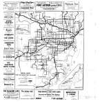 Road Map of Port Arthur & Fort William District