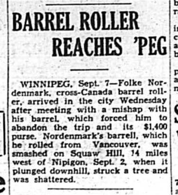 Barrel Roller Reaches 'Peg