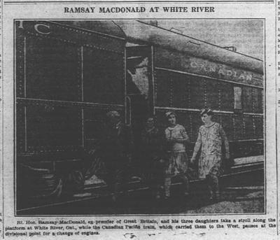 Ramsay MacDonald at White River