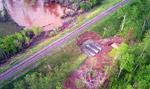 Rainy River Washout, June 11, 2002