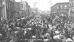 The Lake Superior Regiment leaving Port Arthur on Red River Road, October 10, 1940.