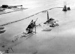 Port Arthur Ore Dock - Dredging the harbour (Aug 7 1944)