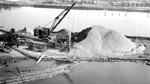 Port Arthur Ore Dock construction. Sand and gravel