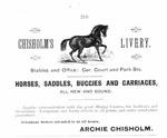Chisholm's Livery (1887)