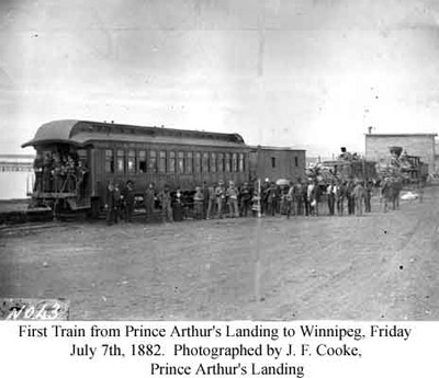 First Train from Prince Arthur's Landing