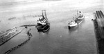 Port Arthur Ore Dock - dredge Primrose at work (Sept. 15th 1944)