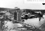 Construction of the CPR Bridge - Nipigon