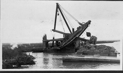 Dredging on the Mission River (1905)