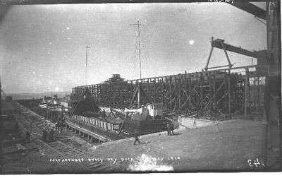 Port Arthur's Busy Dry Dock (1912)