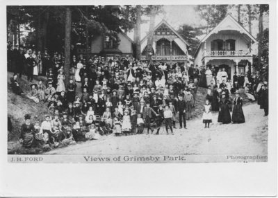 Views of Grimsby Park, Large Group on Steps