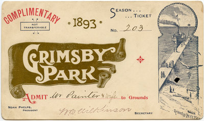 Grimsby Park Season Ticket, 1893