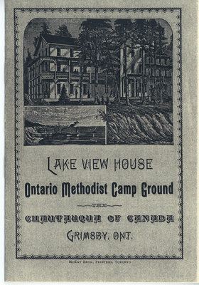 Programme for 1885: Lake View House Ontario Methodist Camp Ground, The Chautauqua of Canada, Grimsby, Ont