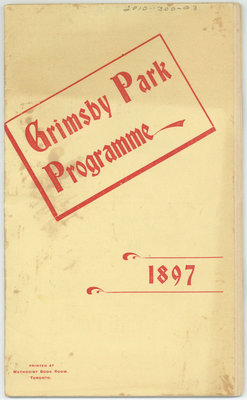 Grimsby Park Programme, 1897