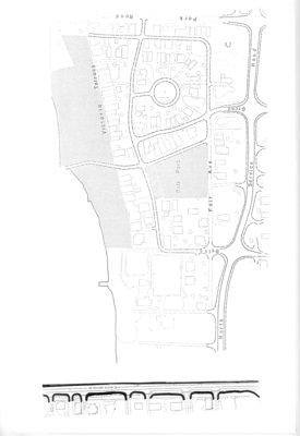 Map of Grimsby beach circa 1950s