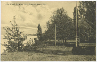 Lake Front, looking east, Grimsby Beach, Ont