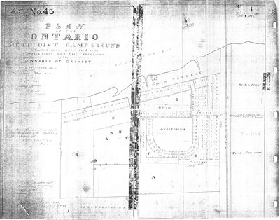 Plan of Ontario Methodist Camp Ground, 1875: Auditorium Circle and Victoria Terrace