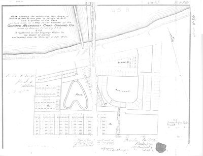 Plan of Ontario Methodist Camp Ground, Blocks B and C, 1875