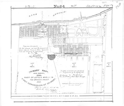 Plan of Grimsby Park, 1885