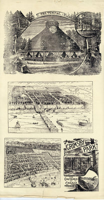 Illustrations used in Grimsby Park Programmes