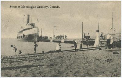 Steamer Macassa at Grimsby, Canada