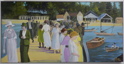 Michelle Teitsma, At the Races, - 1910, 2013, Oil on canvas
