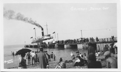Steamboat at the Grimsby Beach Pier, c. 1920's