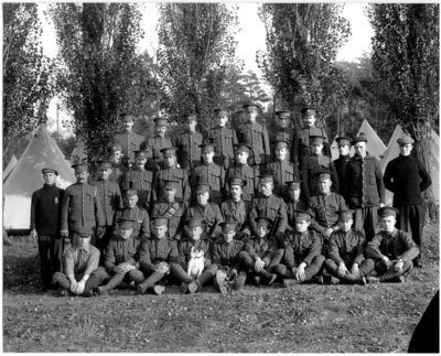 World War I Army Officers Grimsby Beach