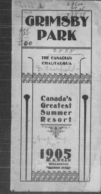 Grimsby Park Program 1905