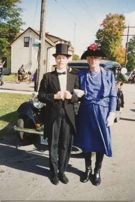 Murray Juffs as Agnes Macphail with Kris Kinsman