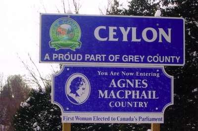 Agnes Macphail Country Sign