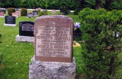 McPhail Family Headstone