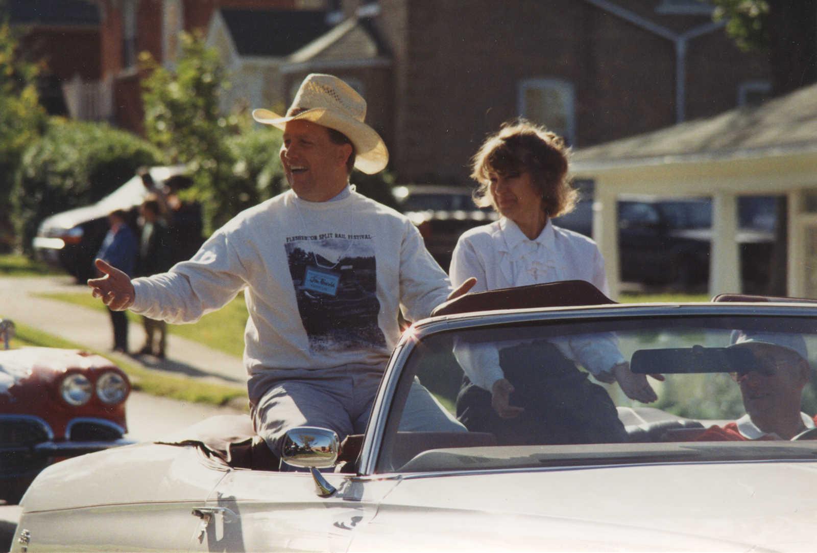 Jim Harrold and Dawn Dawson in Split Rail Parade