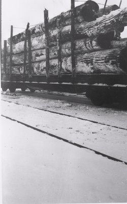 McGinnis logs loaded onto train for export