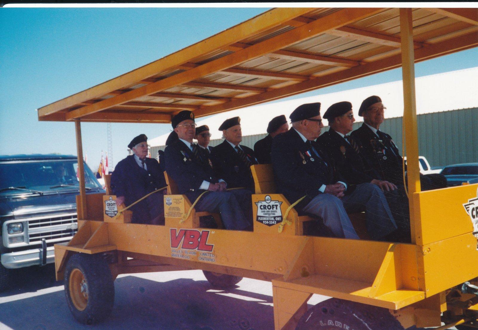 Priceville Veterans ride in Croft's wagon