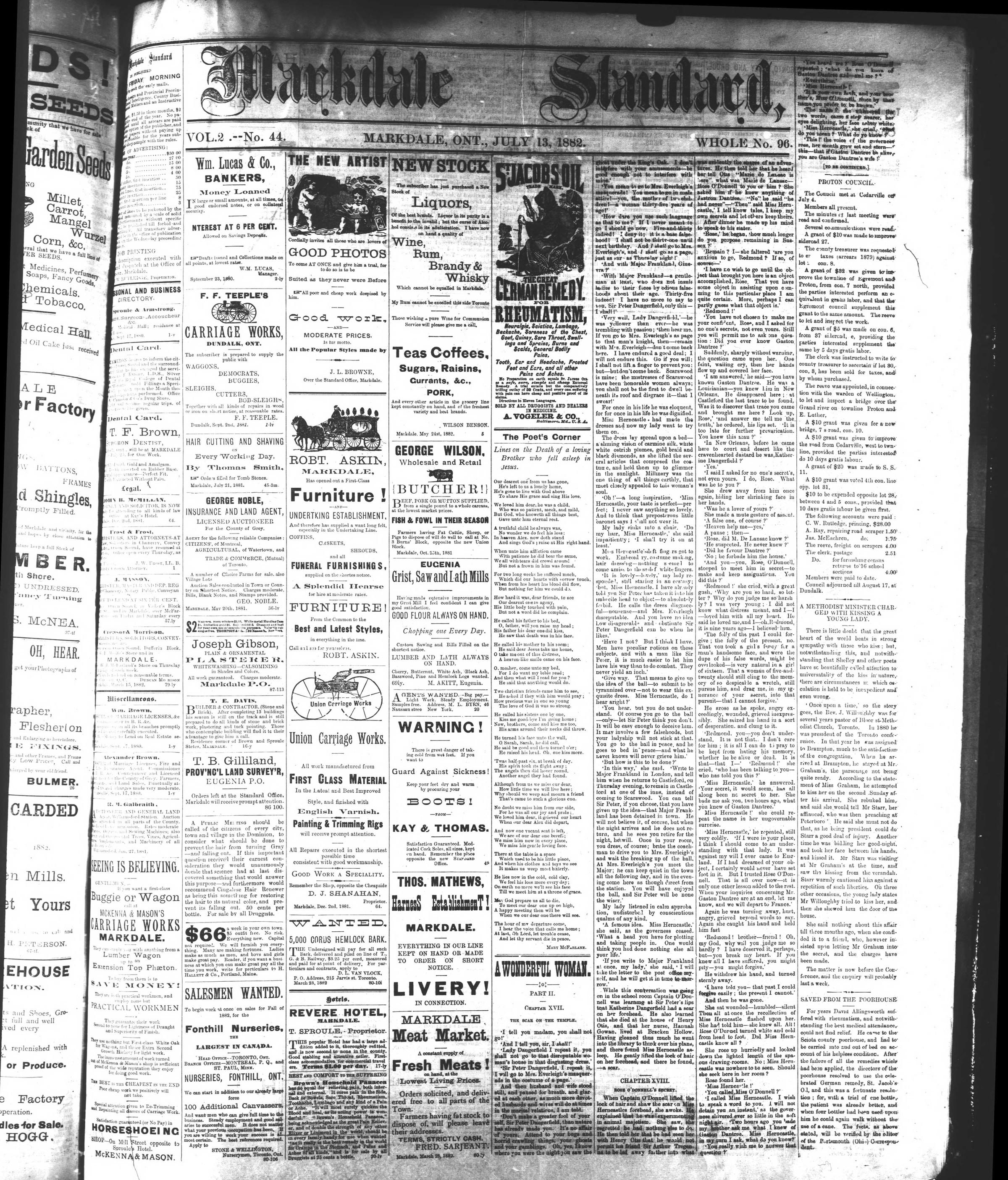 Markdale Standard (Markdale, Ont.1880), 13 Jul 1882